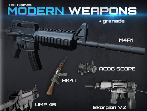 Modern Weapons Pack - Asset Store