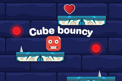 Bouncy Cube 2d - Full 2D Hyperbcasual Game with Ads Integrated