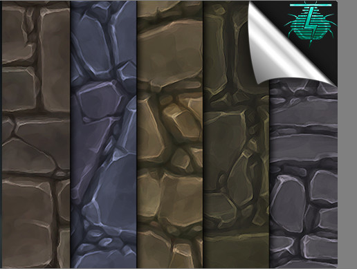 Hand Painted Texture Pack - Ground Stone Tiles Vol. 01
