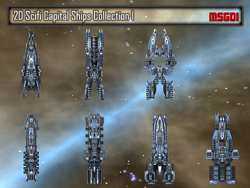 2D Capital Ships Collection I