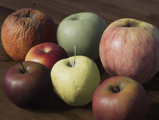 4K Scanned Apples