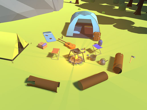 Lowpoly Nature And Camping