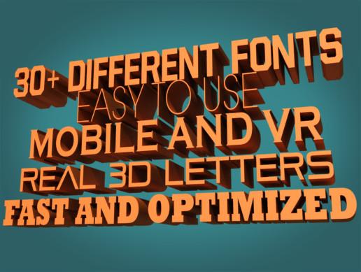 3D Font Engine - Asset Store