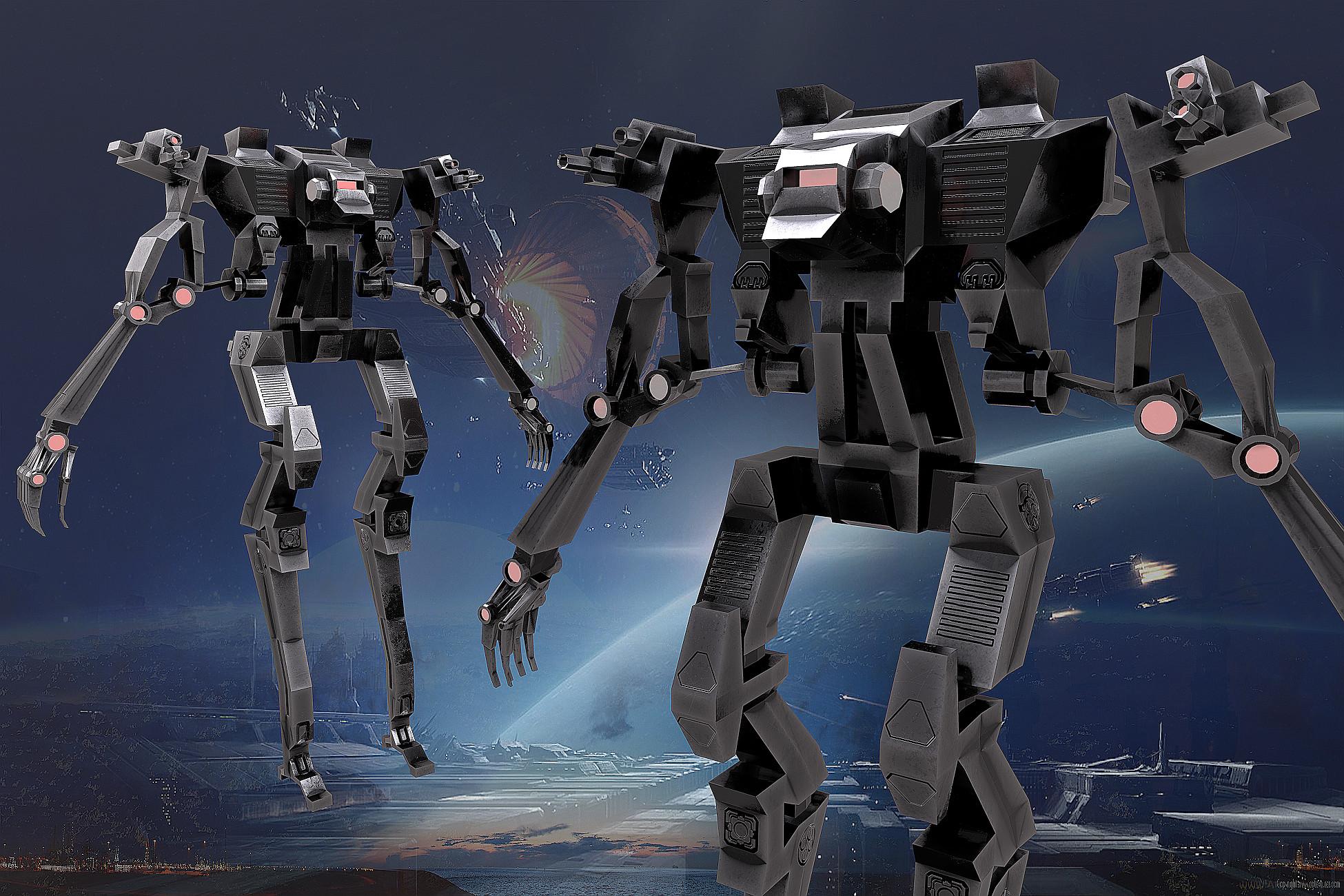 Robot Metallic humanoid