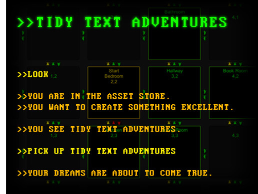 Tidy Text Adventures - Asset Store