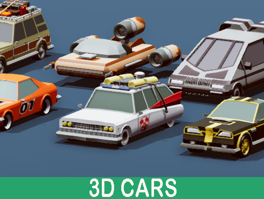 Cartoon Vehicles Pack - Low Poly Cars
