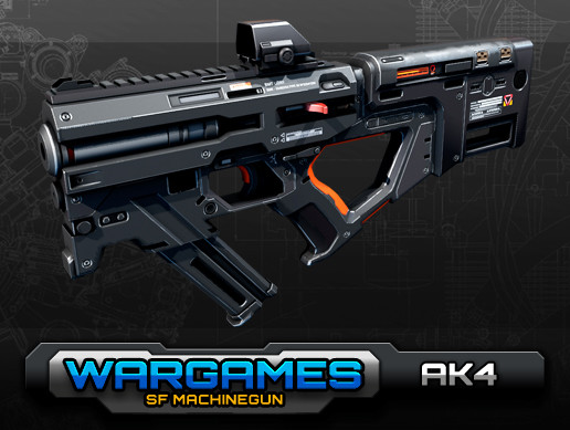 SF MachineGun AK4