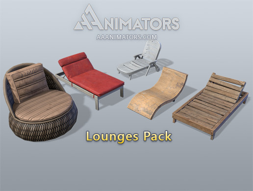 Low Poly Lounges Pack