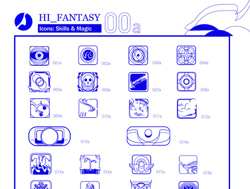 HI_FANTASY 00 Transparent Vector Skill Icons