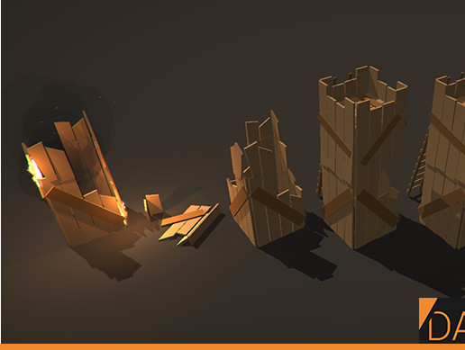 Low Poly Castle Siege Pack