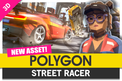 POLYGON - Street Racer - Low Poly 3D Art by Synty