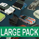 Cartoon Vehicles Full Pack - Low Poly Cars (80 Cars)