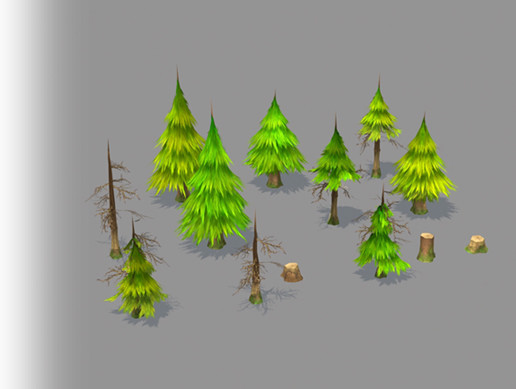 Pine Tree Paint Pack
