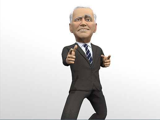 Joe Biden stylized 3D caricature