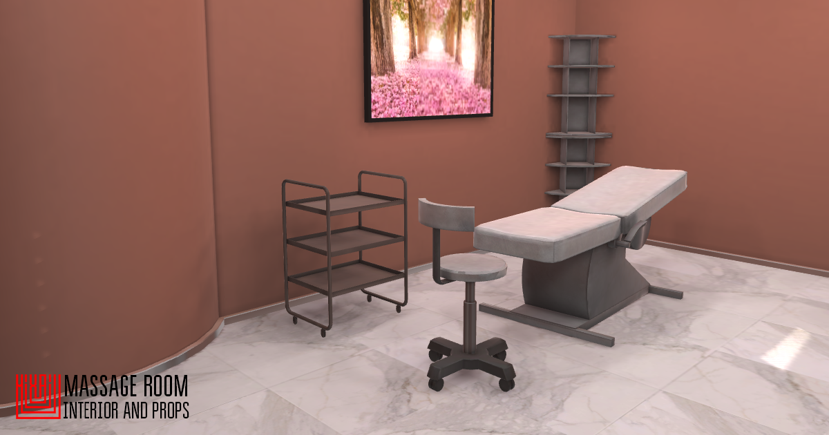 Massage room - interior and props