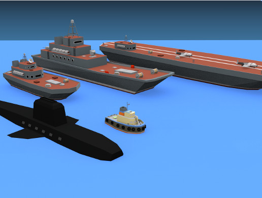 Low Poly Warships Pack
