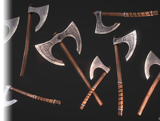 Medieval Viking Axe Pack