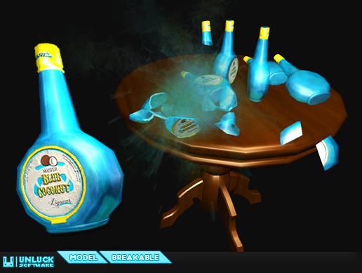 Breakable Liqueur Bottle