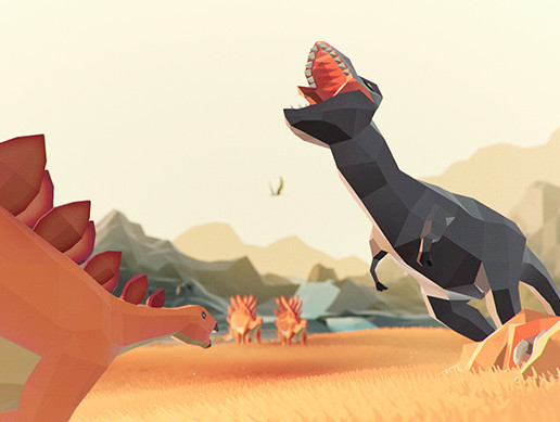Low Poly Animated Dinosaurs