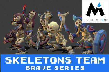Catacomb Skeletons Team - Brave Series