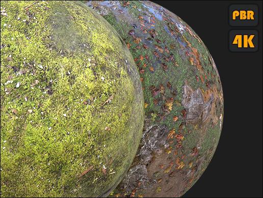 PBR Grassy Ground materials