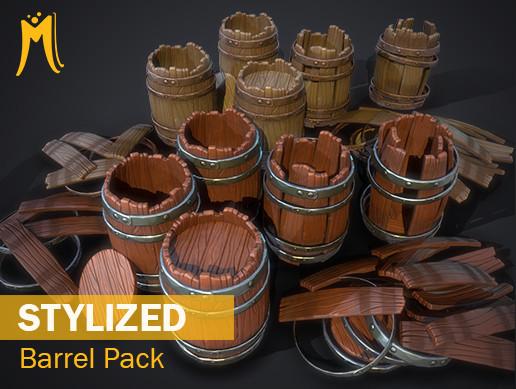 Stylized Barrels Pack
