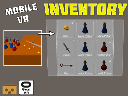 Mobile VR Inventory System - Asset Store