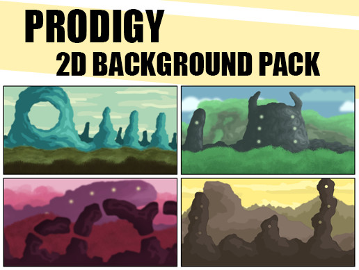 Prodigy 2D backgrounds pack