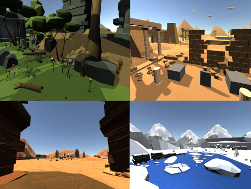 Cartoon Low Poly Environment Pack