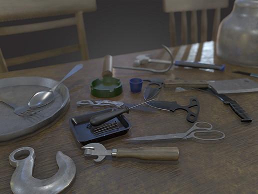Tools stuff props pack