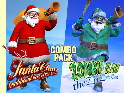 Christmas Zombie Santa.Santa Claus Zombie Claus Combo Asset Store