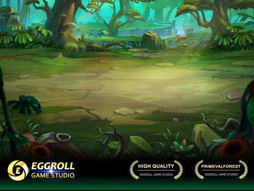 2D Horizontal battle Enviroment_04(PrimevalForest)