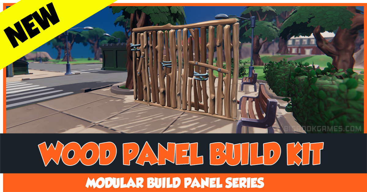 Modular Animated Wood Panel Wall Kit - Vertical Wall - Destructible With Visual Effect and Sound Effect HQ Toon Style