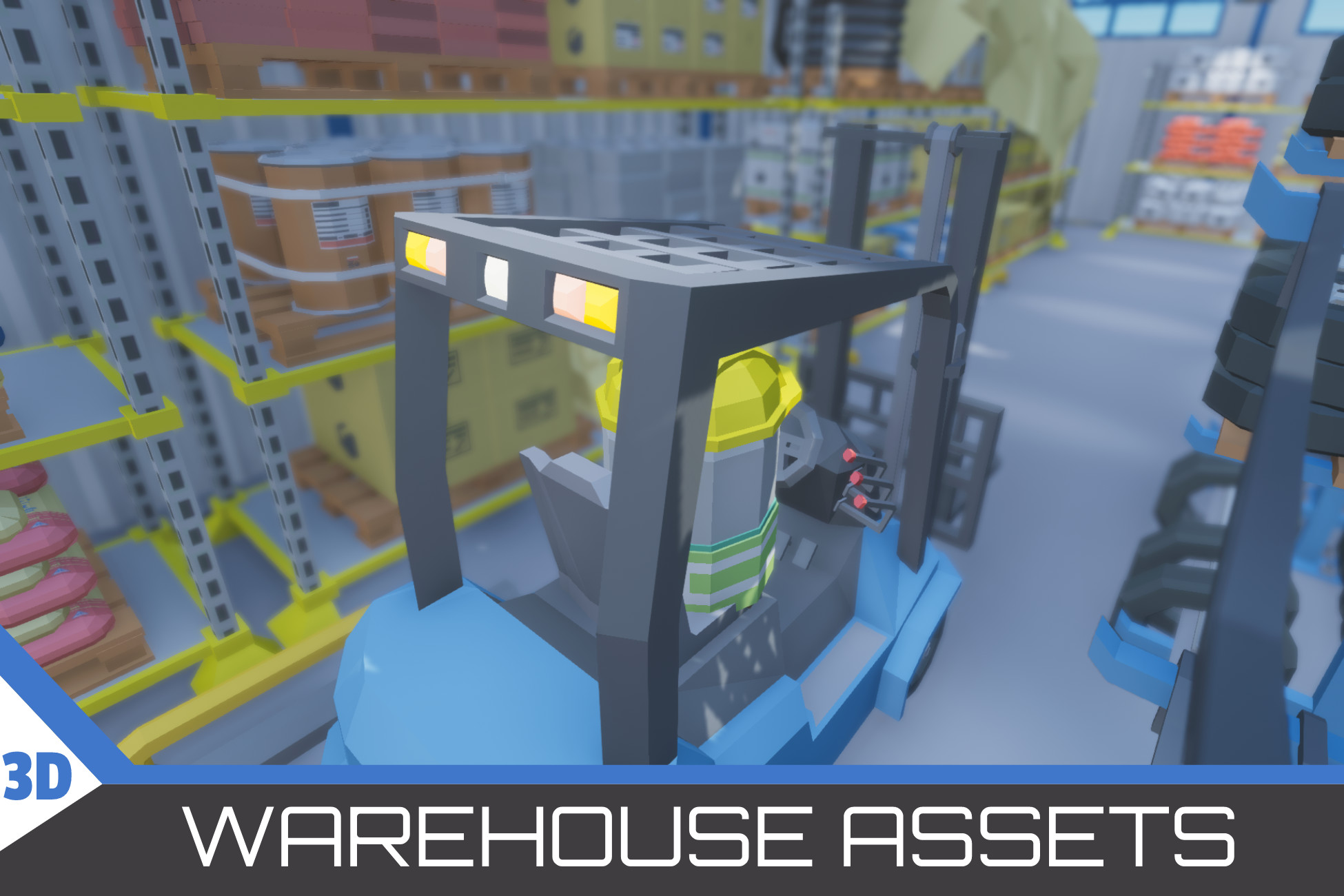 low poly warehouse assets park