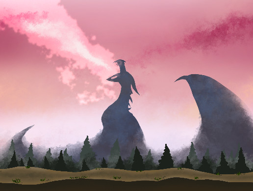 Fantasy Dragon Background [SEAMLESS]
