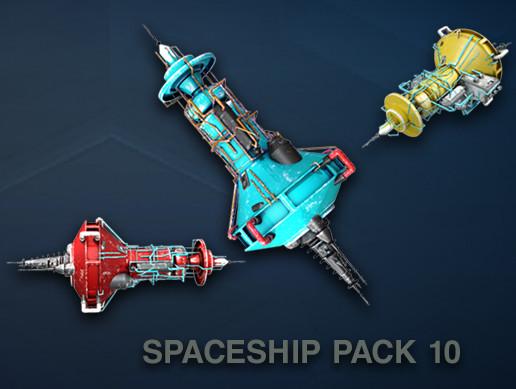 3D Spaceship Pack Vol 10