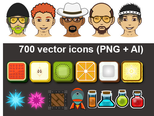 GUI Icons Pack 4 (700)