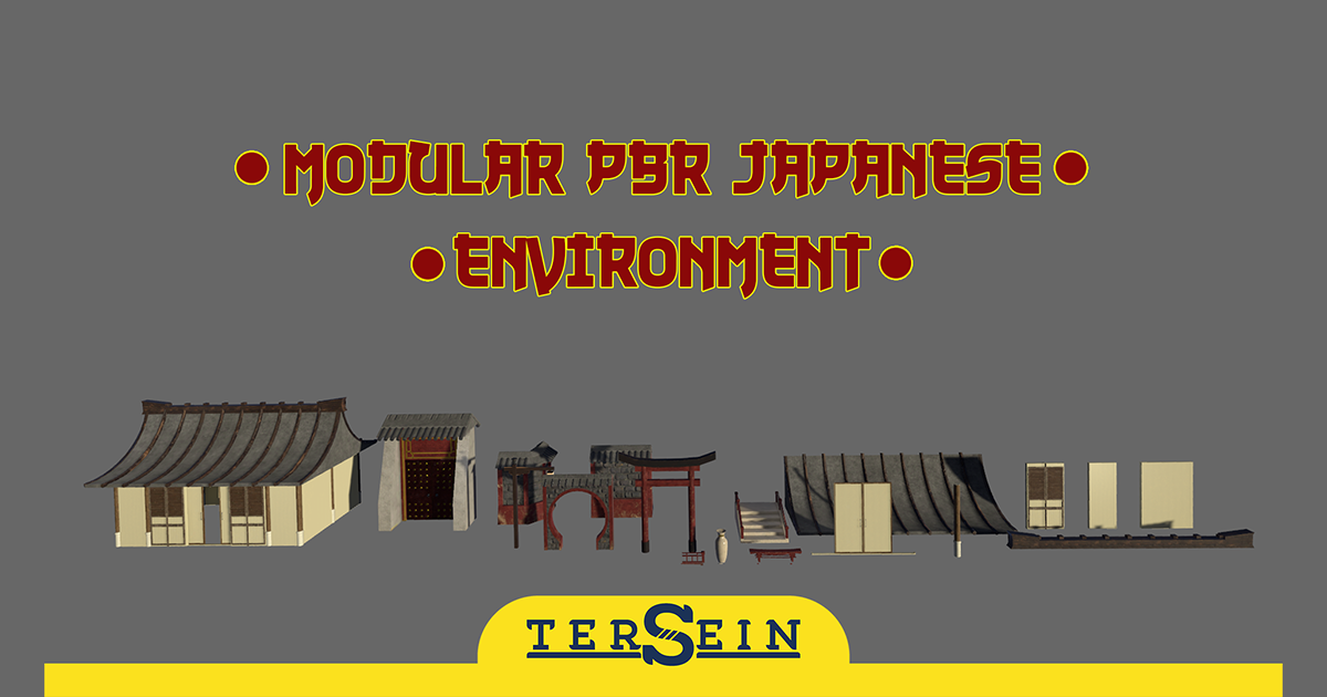 Modular PBR Japanese Environment