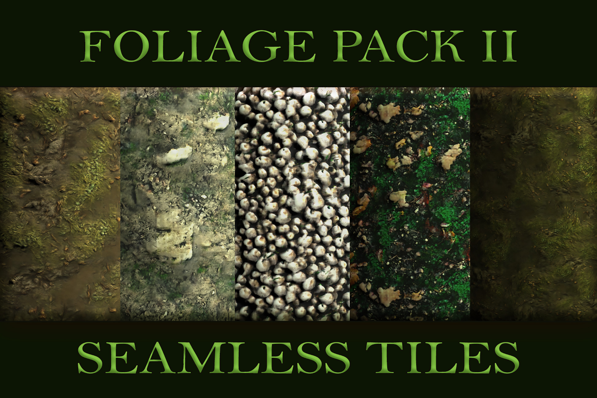 Seamless Tiles: Foliage Textures Set 2