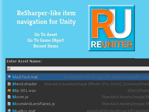 ReUniter - Better Search For Unity