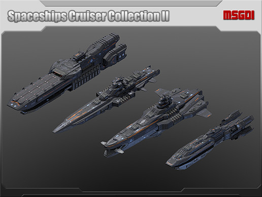 Spaceships Cruiser Collection II