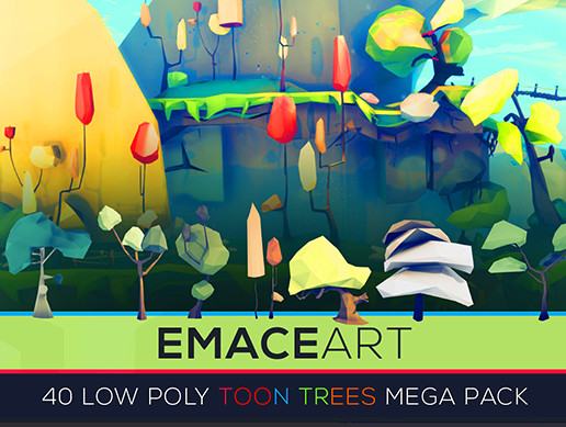 Low Poly Nature Project - Starter Trees Toon Edition Set