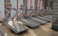 Fitness hall - sports equipment