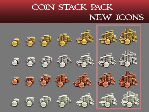 Coin Stack Icon Pack