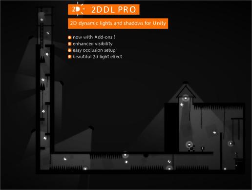 پکیج یونیتی 2DDL Pro : 2D Dynamic Lights and Shadows