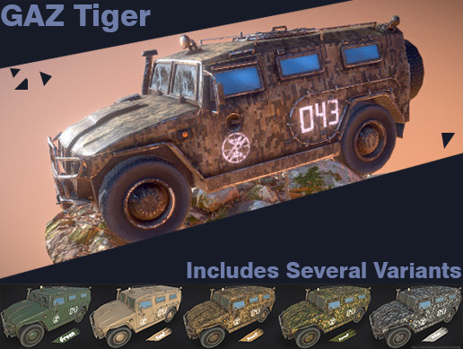 Russian Military Vehicles [LITE] GAZ Tiger