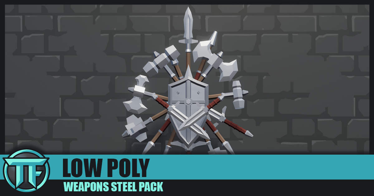 LOW POLY - Weapons Steel Pack