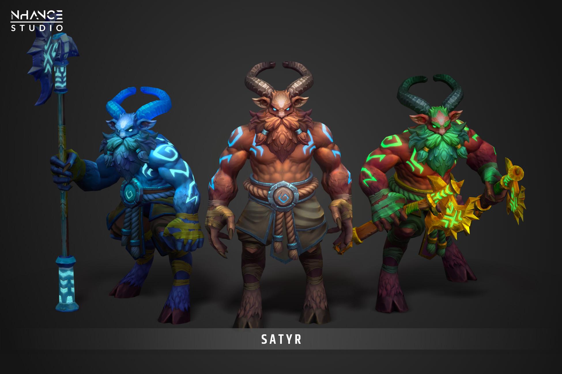 Modular Stylized Satyr Hero