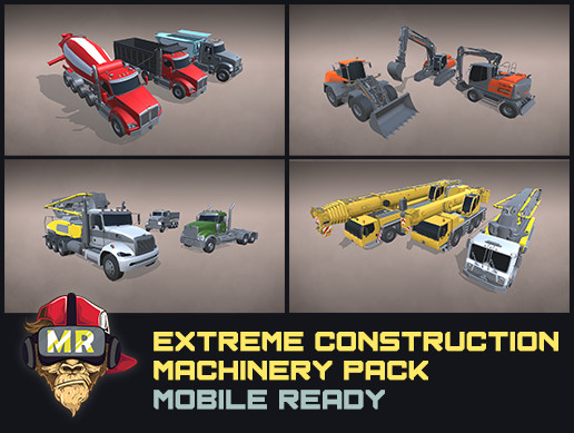 43 Extreme Construction Machinery Pack Mobile Ready