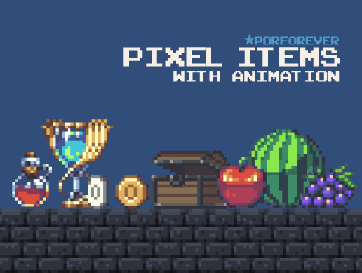 Pixel Platformer Props&Items (with Animation)